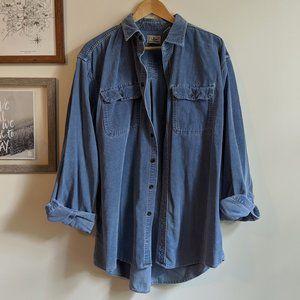 Vintage L.L. Bean Men's Corduroy Button-Up Shirt L